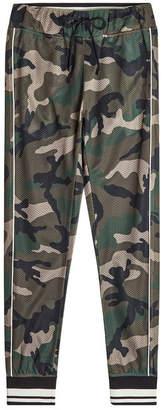 Valentino Camouflage Printed Mesh Track Pants