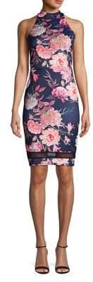 Quiz Floral-Print Sheath Dress