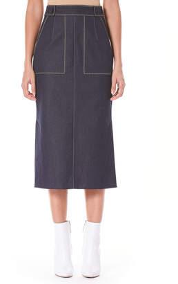 Carolina Herrera Pencil Midi Skirt with Pockets