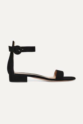 Gianvito Rossi Portofino 20 Suede Sandals - Black