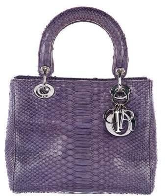 Christian Dior Python Medium Lady Dior Bag