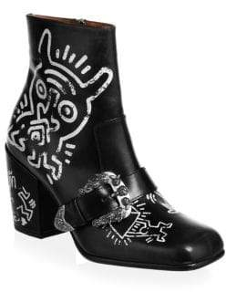 Coach X Keith Haring Western Moto Booties