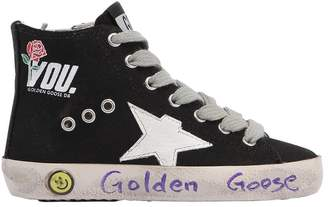 Golden Goose Francy You Print Canvas High Top Sneaker