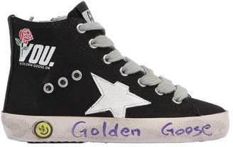 Golden Goose (ゴールデン グース) - GOLDEN GOOSE DELUXE BRAND FRANCY YOUプリント キャンバスハイトップスニーカー