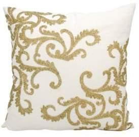Nourison Metallic Embroidered Pillow