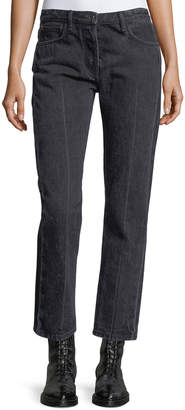 The Row Ashland Cropped Straight-Leg Jeans