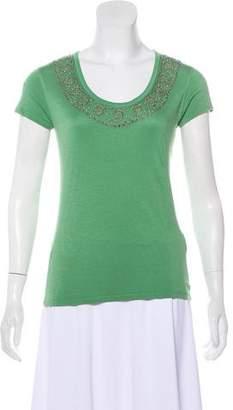 Etro Beaded Scoop Neck T-Shirt