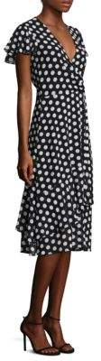 MICHAEL Michael Kors Dot-Print Wrap Dress