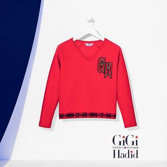 Tommy Hilfiger Cropped Logo Sweatshirt Gigi Hadid