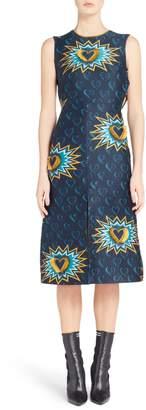 Fendi Heart Jacquard Midi Dress