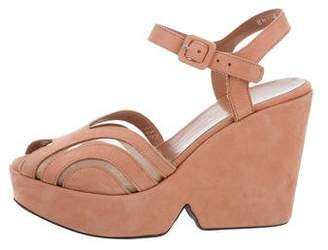 Robert Clergerie Clergerie Paris Peep-Toe Platform Wedges