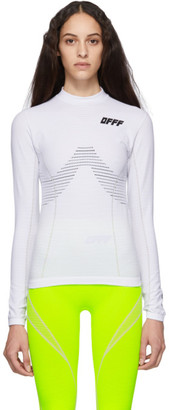 Off-White Off White White Athletic Long Sleeve T-Shirt