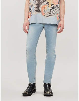 Givenchy Logo-patch faded skinny jeans
