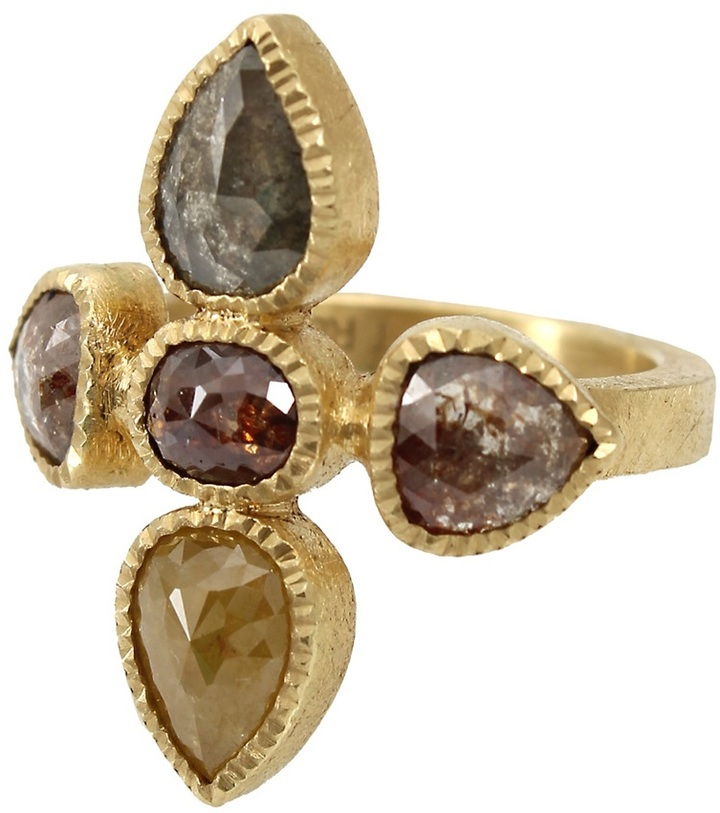 Todd Reed five stone cluster ring