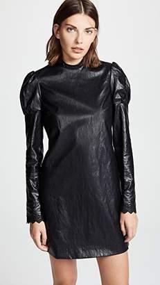 Philosophy di Lorenzo Serafini High Neck Faux Leather Dress