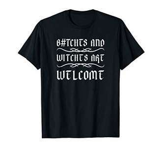 B#tches and witches are welcome gift for guys tshirt