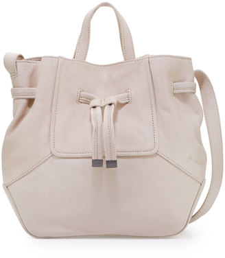 Kooba Anna Leather Drawstring Bucket Bag, Stone $300 thestylecure.com