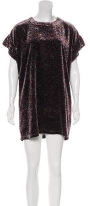 Current/Elliott Janie Velvet Mini Dress w/ Tags