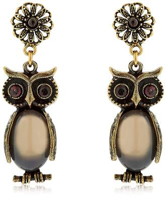 Alcozer & J Kira & Melita Owl Pendant Earrings