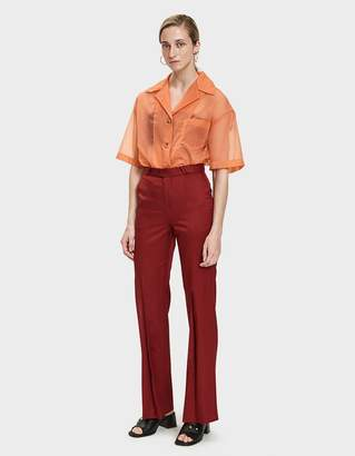 Acne Studios Tohny Shiny Suit Pant in Crimson Red