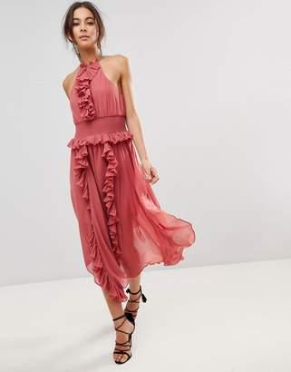Keepsake Ruffle Swing Dress