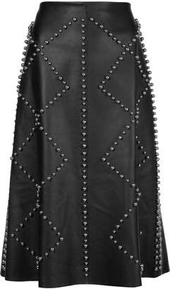Derek Lam Studded Leather Skirt
