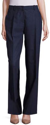 Lafayette 148 New York Rivington Finite Italian Flannel Wide-Leg Pant