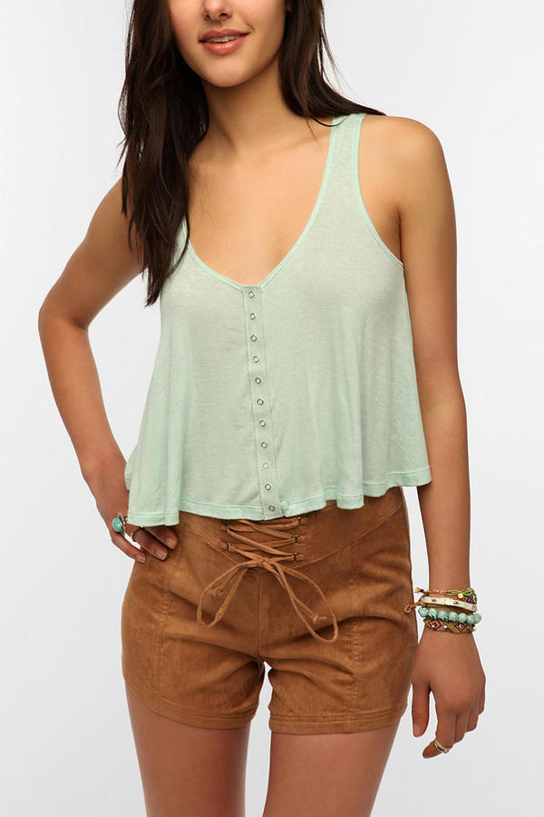 Urban Outfitters Daydreamer LA Snap-Front Swing Tank Top