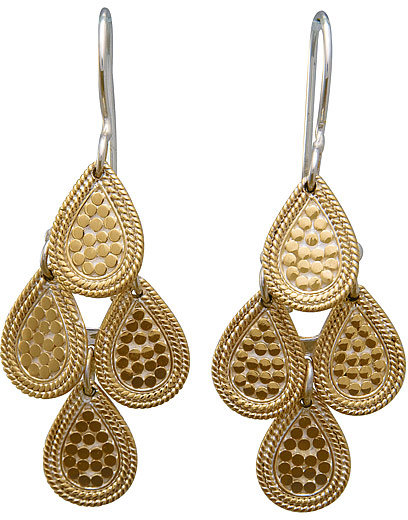 Anna Beck Riau Gold Multi Drop Earrings
