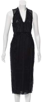 Burberry Sleeveless Midi Dress w/ Tags