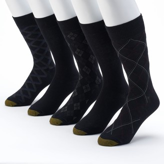Gold Toe Goldtoe GOLDTOE 5-pack Patterned & Solid Dress Socks - Men