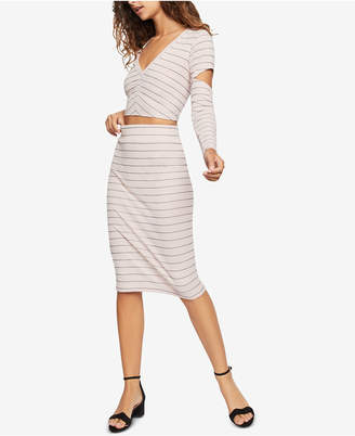 BCBGeneration Striped Pull-On Pencil Skirt