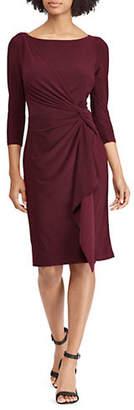 Chaps Ruched Knot Dress Dress