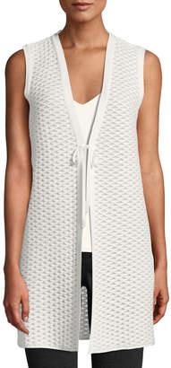 Lafayette 148 New York Hanneli Tie-Front Honeycomb Vest