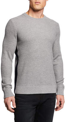 Theory Men's Winlo Wool Waffle-Knit Sweater