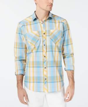 INC International Concepts I.n.c. Men's Aaron Plaid Shirt, Created for Macy's