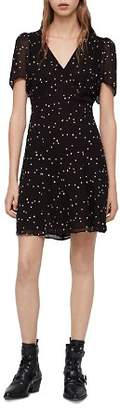 AllSaints Lucia Embroidered Star Dress