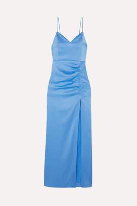 Alice + Olivia Alice Olivia - Diana Satin-jersey Maxi Dress - Blue