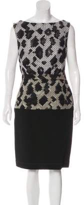 Balenciaga Patterned Sheath Dress w/ Tags