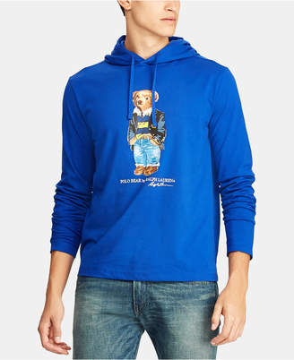 Polo Ralph Lauren Men Polo Bear Hooded Long-Sleeve T-Shirt