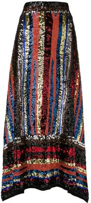 ATTICO handmade multicolor sequin skirt