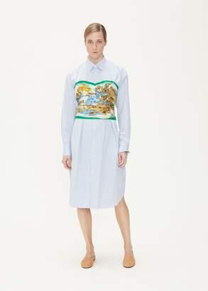 Junya Watanabe Flower Print Corset Shirt Dress