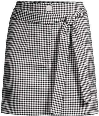 Robert Rodriguez Lexy Mini Check A-Line Skirt
