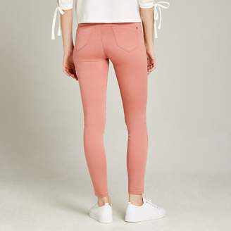 Apricot Pink Cotton Sateen Skinny Jeggings