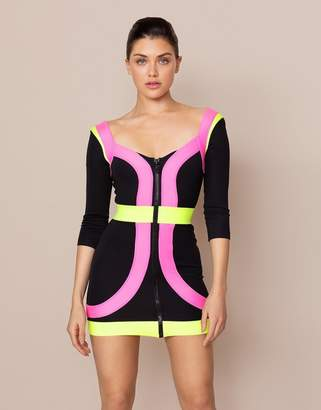 Agent Provocateur Sindy Dress Black And Pink