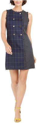 Julia Jordan Mixed-Plaid Sheath Dress