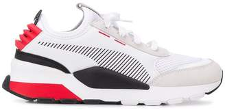 Puma colour block trainers