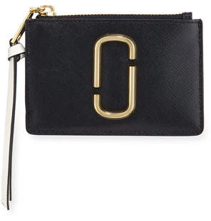 Marc Jacobs Colorblock Top Zip Card Case Wallet