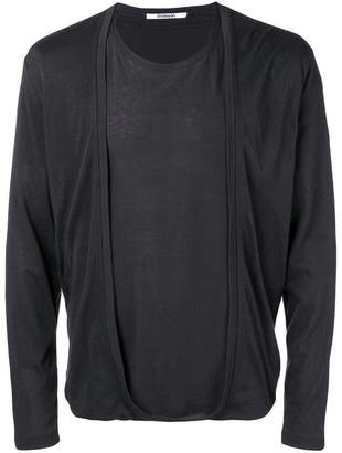 Chalayan layered longsleeved T-shirt
