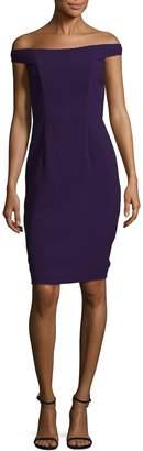 Carmen Marc Valvo Women's Off Shoulder Crepe Dress